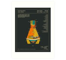 SPACE CAPSULE PATENT (1963) Art Print