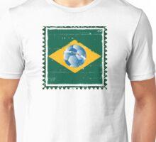 Brazil flag like stamp in grunge style Unisex T-Shirt