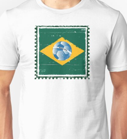 Brazil flag like stamp in grunge style Unisex T-Shirt