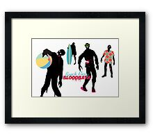 Funny zombies summer fun beach party Framed Print