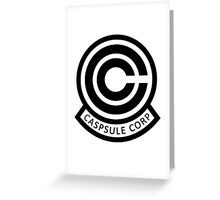 DBZ Capsule Corp Logo Greeting Card