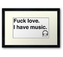 musique Framed Print