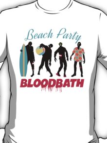 Funny zombies summer fun beach party T-Shirt