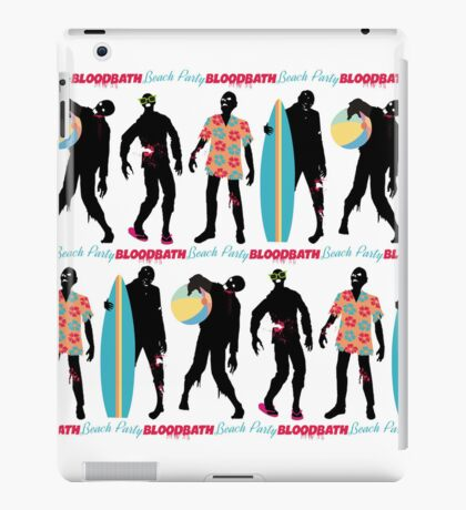 Funny zombies summer fun beach party iPad Case/Skin