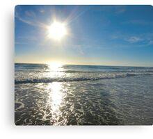 San Diego Beach With The Sun Metal Print