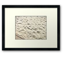 Hot Sand Between Your Toes Framed Print