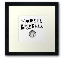 Modern Baseball Framed Print