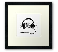 Mad Sounds Framed Print