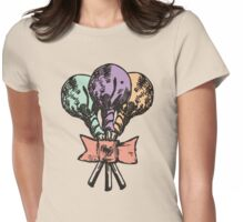 Vintage grunge lollipops candy heart ribbon Womens Fitted T-Shirt