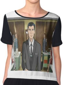 Archer vs. Co-workers Chiffon Top