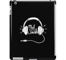 Mad Sounds White iPad Case/Skin