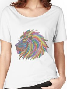 Ombre Lion Women's Relaxed Fit T-Shirt
