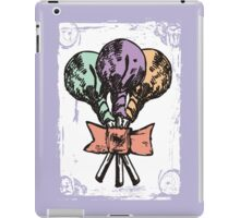 Vintage grunge lollipops candy heart ribbon iPad Case/Skin