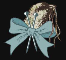 Vintage bird yarn knitting needles knitter tee Kids Clothes