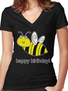 Bumble Bee Birthday Women's Fitted V-Neck T-Shirt