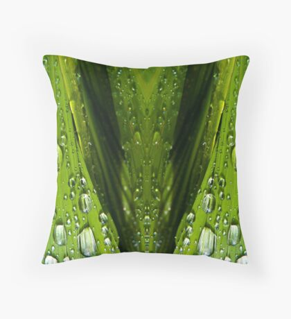 Floral Reflections in water Throw Pillow