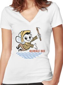 Bumble Bee Tuna Women's Fitted V-Neck T-Shirt