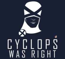 CYCLOPS WAS RIGHT (White print) Kids Clothes