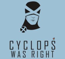 CYCLOPS WAS RIGHT (Black print) Kids Tee