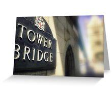 Tower Bridge, Enland Greeting Card