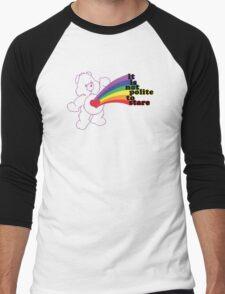 Stare Bear Men's Baseball ¾ T-Shirt