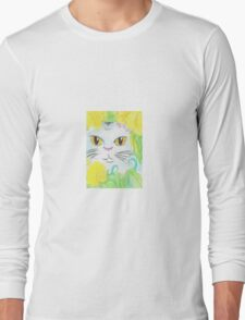 Peeking Cat Long Sleeve T-Shirt