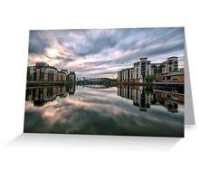 The Shore, Edinburgh Long Exposure Sunset Greeting Card