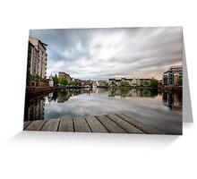 The Shore in Edinburgh. Long Exposure Greeting Card