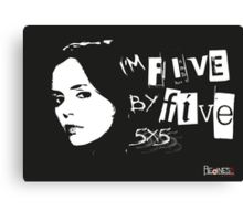 I'M FIVE BY FIVE Canvas Print