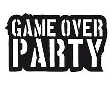 Stempel Text Game Over Party by Style-O-Mat