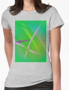 Abstract Pattern Green Grass Womens Fitted T-Shirt