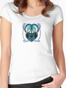 """In Flight"" Celtic Peacock Design Women's Fitted Scoop T-Shirt"