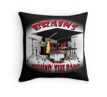 BRAINS behind the BAND Throw Pillow