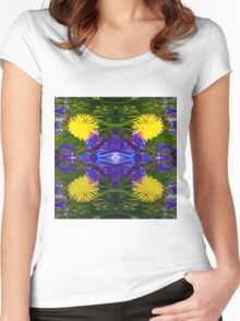Abstract Dandy Four pattern Women's Fitted Scoop T-Shirt