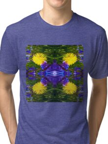 Abstract Dandy Four pattern Tri-blend T-Shirt