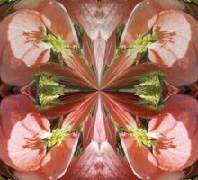Four Flower Globe Sticker
