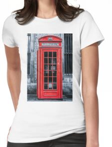 London - Telephone booth alone Womens Fitted T-Shirt