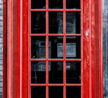 London - Telephone booth alone Sticker