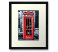 London - Telephone booth alone Framed Print