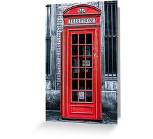 London - Telephone booth alone Greeting Card