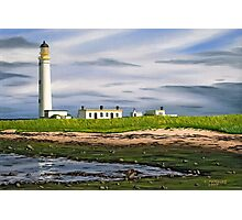 Barns Ness Lighthouse, Scotland Photographic Print