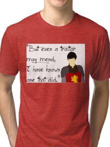 Edmund Pevensie Traitor Quote Tri-blend T-Shirt