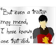 Edmund Pevensie Traitor Quote Poster