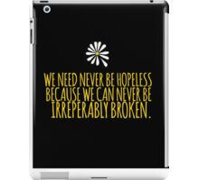 John Green -- Looking For Alaska -- Broken iPad Case/Skin
