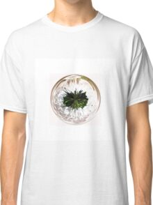 White flower in the globe Classic T-Shirt