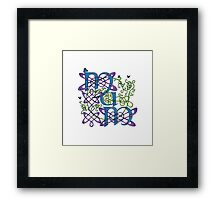 """Mum"" Celtic Butterflies Design Framed Print"