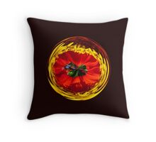 Flower globe in red and yellow Throw Pillow