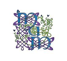 """Mum"" Celtic Butterflies Design by Catie Atkinson"