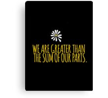John Green -- Looking For Alaska -- Sum of Our Parts Canvas Print