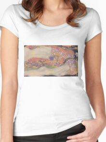Water Snakes II by Klimt  Women's Fitted Scoop T-Shirt